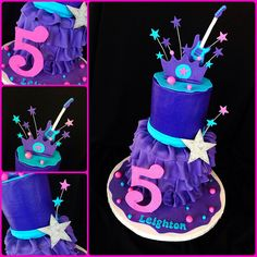 Made for a set of twins celebrating their birthday. 6th Birthday Cakes, Birthday Cakes For Women, Barbie Birthday, Barbie Party, 6th Birthday Parties, Birthday Fun, Birthday Party Decorations, Princess Birthday, Princess Party
