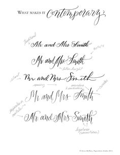 What makes it contemporary calligraphy?