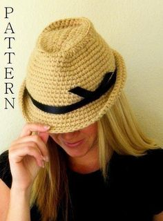 Fedora Hat Crochet ... by SmeckybitS | Crocheting Pattern