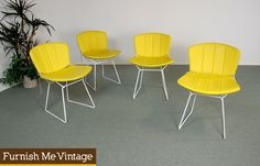 4 Mid Century Modern Harry Bertoia Knoll Bikini Top & Bottom Chair Pads | Furnish Me Vintage