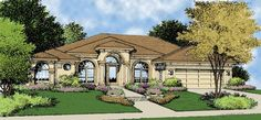 Eplans Mediterranean House Plan - Expansive Master Suite - 2118 Square Feet and 3 Bedrooms from Eplans - House Plan Code HWEPL09233