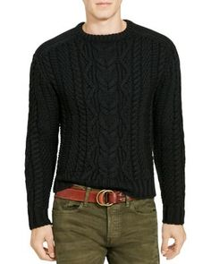 POLO RALPH LAUREN Cable Knit Merino Wool Sweater. #poloralphlauren #cloth # sweater