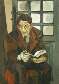 Portrait of Antonino Santangelo - Renato Guttuso , 1942 oil on canvas, 100 × 70 cm Italian Painters, Italian Artist, People Reading, Chaim Soutine, Reading Art, Best Portraits, Cute Wallpaper Backgrounds, Illustrations, Renoir