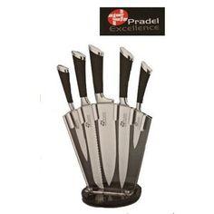 Bloc 5 couteaux de cuisine Professionnels acier inox support tournant - I7404 - Pradel Excellence