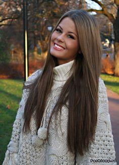 long brown hair <3