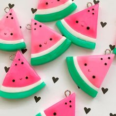 #kawaii #charms #polymer #clay #watermelons