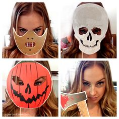 Halloween Horror Printable Photo Booth Props - An easy dress up activity for Halloween party guests!