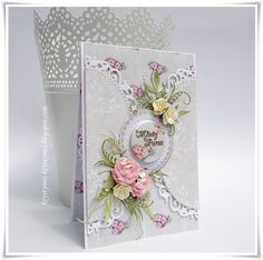 Lemoncraft: Fan Grudniowo-Styczniowy - Fan of December and January Paper Quilling Cards, Shabby Chic Cards, Fancy Fold Cards, Heartfelt Creations, Card Sketches, Love Cards, Scrapbook Cards, Homemade Cards, I Card