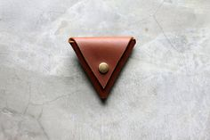 Coin Tri Pouch  Hand Crafted Leather Custom by millergoods on Etsy, $32.00