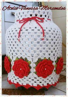 Crochet Jar Covers, Holiday Crochet Patterns, Crochet Home, Crochet Doilies, Lana, Crochet Projects, Alphabet, Diy And Crafts, Knitting