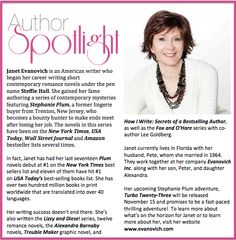 Check out this week's #AuthorSpotlight: #JanetEvanovich #american #writer #1newyorktimes #bestsellingauthor #stephanieplumseries