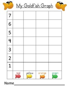 Check your pantry...don't you have goldfish? Open a box and reinforce graphing at home...then have a snack!:-)