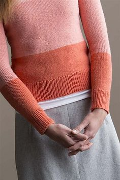 Ravelry: Gradient Pullover pattern by Amy Miller Knitting Daily, Knitting Yarn, Knitting Sweaters, Knitting Designs, Knitting Patterns, Knitting Ideas, Quick Knits, Knitting Magazine, Warm Outfits