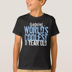 11th Birthday Gift Worlds Coolest 11 Year Old T Shirt Gifts