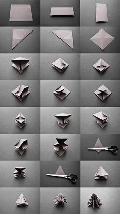 Weihnachtsbaum origami