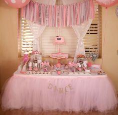 Tutu table skirt, Tulle table skirt, custom made, candy buffet skirt, ruffle tulle skirt by BaileyHadaParty on Etsy https://www.etsy.com/listing/201882802/tutu-table-skirt-tulle-table-skirt