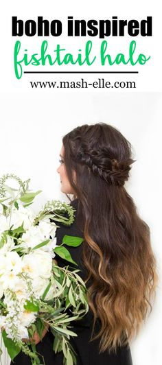 Stunning boho inspired fishtail halo by the hair experts at @lorealparisus!