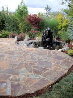 Flagstone Walkway Design Ideas austin lawn drainage dry creek beds Flagstone Patios Walkways Vancouver Wa