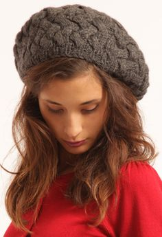 wool- great winter hat. Wear it high or pull it low and tuck your hair in