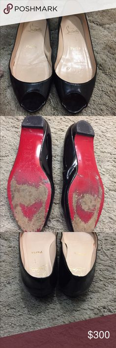 Authentic Christian Louboutin Flats Authentic Christian Louboutin Flats, Great used condition. They are size 37 1/2. No dust bag or box. Christian Louboutin Shoes Flats & Loafers