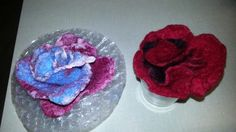 Felted roses by Dianne S Lemire