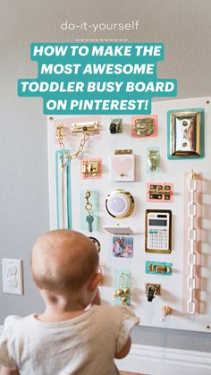 Toddler Stuff, Toddler Toys, Busy Boards For Toddlers, Planning And Organizing, Baby Clothes Patterns, Toy Rooms, Happy Kids, Diy Toys, Sadie