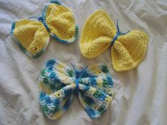 Baby Wash Cloths Crochet Butterfly by DarleneMoon on Etsy, $18.00