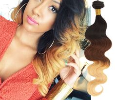 3 Bundles 300g Body Wave Ombre 100% Human Hair Extensions Full Head Hair Wefts
