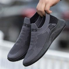 Casual Shoes Summer Mesh Men Shoes Lightweight Sneakers Men Fashion Casual Walking Shoes Breathable Slip on Men's Loafers | Touchy Style Men's Shoes, Shoes Sneakers, Casual Shoes, Men Casual, Custom Shoes, Summer Shoes, Men's Loafers, All Black Sneakers, Walking Shoes