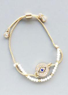 Elegant Pearl Hamsa Bracelet – Pree Brulee