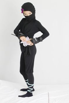 ninja kost m selber machen fasching ninja kost me. Black Bedroom Furniture Sets. Home Design Ideas