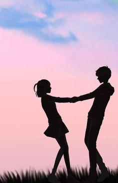 Cute Couple Drawings, Cute Couple Art, Anime Love Couple, Cute Drawings, Cute Couples, Anime Cupples, Anime Life, Cute Wallpaper Backgrounds, Cute Wallpapers