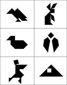 Tangram Puzzle Worksheets | Paarden | Pinterest | Horse Print ...