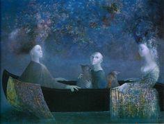 voyage sans amarres by leonor fini, 1986.