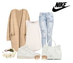 """""""Bez naslova #3448"""" by ramayanna ❤ liked on Polyvore featuring H&M, NIKE, Vince Camuto and Ray-Ban"""