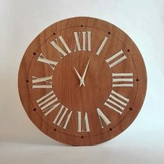 Wooden clock pyrography and acrylic