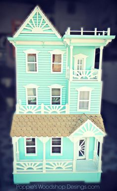 San Fran Manor Dollhouse NOT A KIT by MyDeliciousBliss on Etsy, $550.00