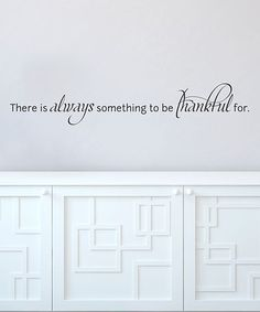 'Be Thankful' Wall Quote