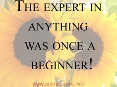 Short inspirational quotes for all - The expert in anything was once a beginner.