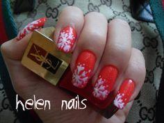 Ysl nails winter nails snow nails red nails christmas nails