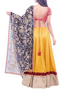 Impress Everyone With Your Ethnic Look By Wearing This Exquisite Beautiful A-Lined Style Designer Lehenga By Soucika From The Online Store Of Simaaya Fashions Made Of Fine Quality Brocade, It Portrays Tremendous Grace And Charm.  Get this at - http://www.simaayafashions.com/designer-brocade-lehenga-in-yellow-0900975  #designerlehenga #soucika #exclusive #onlineshopping #simaayafashions