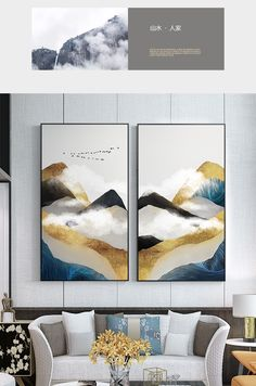 Cloud Art, Living Room Pictures, Mountain Landscape, Picture Wall, Wall Prints, Tapestry, Clouds, Wall Art, Abstract