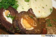 Štěpánská hovězí pečeně Slovak Recipes, Czech Recipes, Ethnic Recipes, I Foods, Stew, Mashed Potatoes, Food And Drink, Menu, Eggs