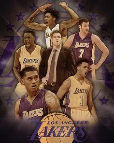 Lakers Young Core ( +Ingram) Graphic . . . . #lakers #losangeles #ingram…