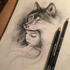 Trendy tattoo wolf girl drawing inspiration Trendy tattoo wolf girl drawing inspiration This image has. Wolf Tattoos, Body Art Tattoos, Tattoo Drawings, Wolf Tattoo Design, Tattoo Designs, Wolf Headdress, Headdress Tattoo, Tattoo Girls, Trendy Tattoos