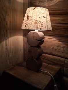 Lampada artigianale in legno antico. #Dallalberoallarte