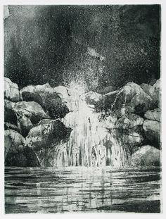 Jake Muirhead, 'Falls', etching and aquatint
