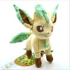 New 8'' Leafeon Pokemon Pikachu Center Plush Toys Soft Stuffed Doll Animal Gift #Unbranded