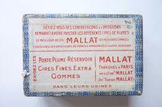 Ancienne Boîte de 77 plumes Ronde N°1  J.B. MALLAT  Réf 18-   Collections, Ecriture, dessin, Plumes   eBay!