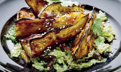 aubergine with miso. Looks delicious but requires investment in posh Japanese ingredients.
